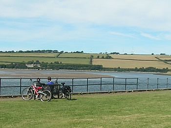 Cyclists at Fremington Quay
