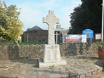 War Memorial outside St Peters Church, Fremington