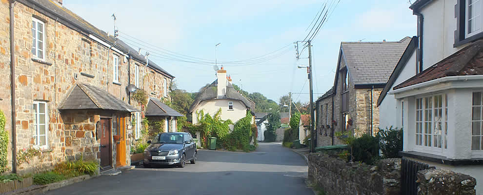 Cottages in Fremington village