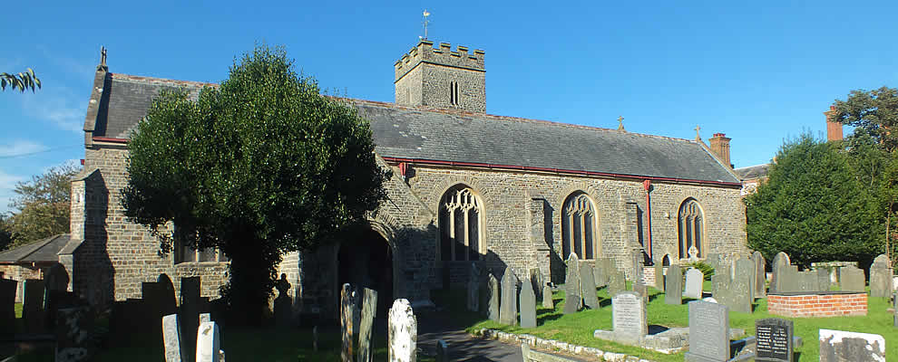 St Peters Church in the village of Fremington
